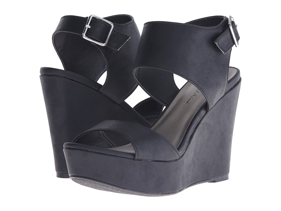 Michael Antonio Andres Black Womens Wedge Shoes