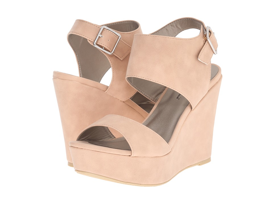 Michael Antonio Andres Nude Womens Wedge Shoes