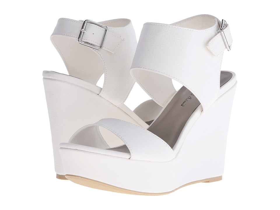 Michael Antonio Andres White Womens Wedge Shoes