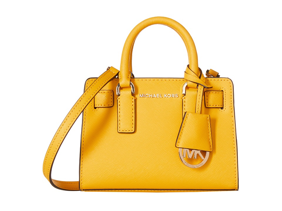 MICHAEL Michael Kors - Dillon Top Zip Extra Small Crossbody (Sunflower) Cross Body Handbags
