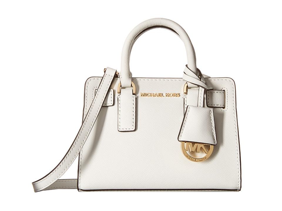 MICHAEL Michael Kors - Dillon Top Zip Extra Small Crossbody (Optic White) Cross Body Handbags