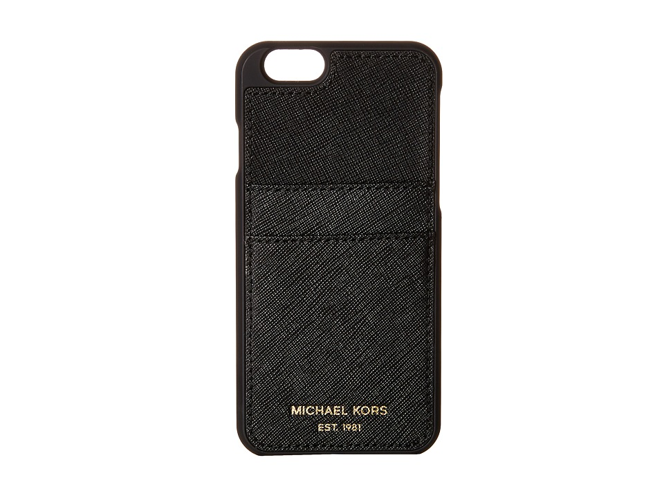 MICHAEL Michael Kors - Electronics Phone Cover w/ Pocket 6 (Black) Cell Phone Case