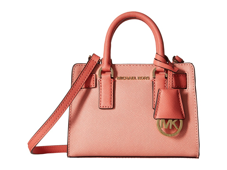 MICHAEL Michael Kors - Dillon Top Zip Extra Small Crossbody (Peach/Pink Grapefruit) Cross Body Handbags