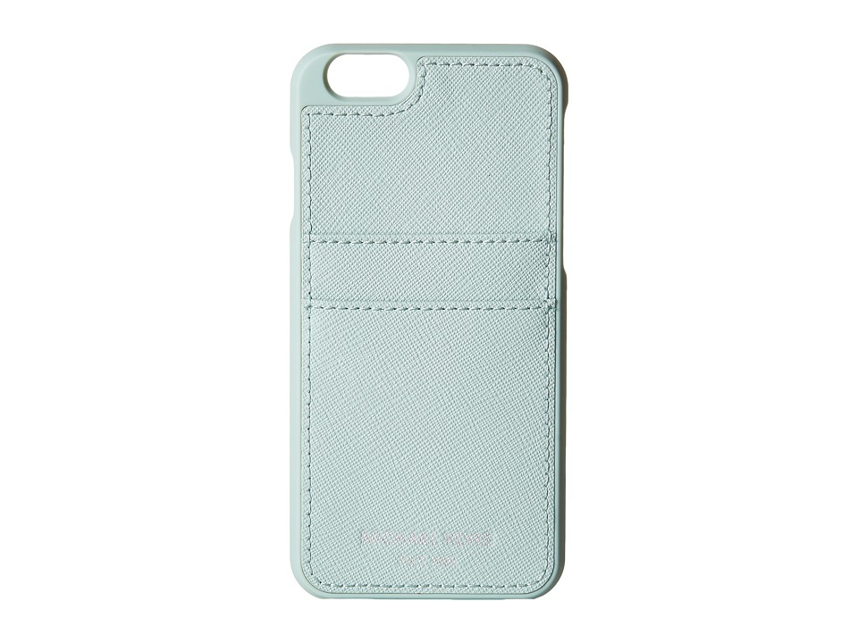 MICHAEL Michael Kors - Electronics Phone Cover w/ Pocket 6 (Celadon) Cell Phone Case