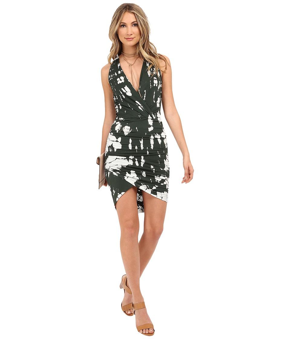 Young Fabulous amp Broke Aadi Dress Olive Crocodile Wash Womens Dress
