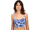 LAUREN Ralph Lauren Tahitian Floral Crop Over the Shoulder Bra w/ Molded Cup