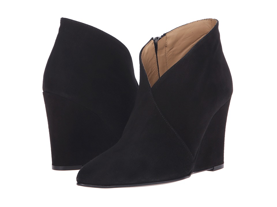 Massimo Matteo Wedge Bootie Black Womens Boots