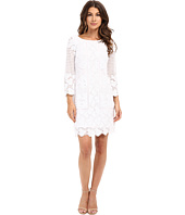Laundry by Shelli Segal - 3/4 Sleeve Embroidered Mesh Dress