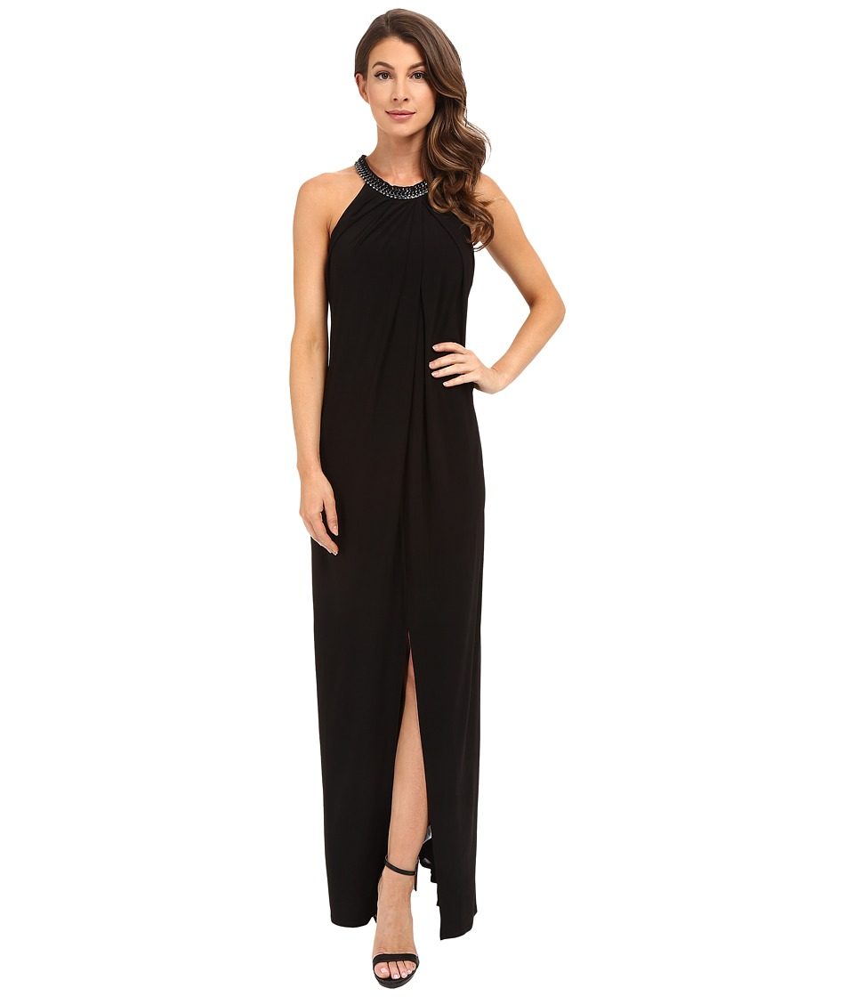 Laundry by Shelli Segal Matte Jersey Sleeveless Gown Black Womens Dress