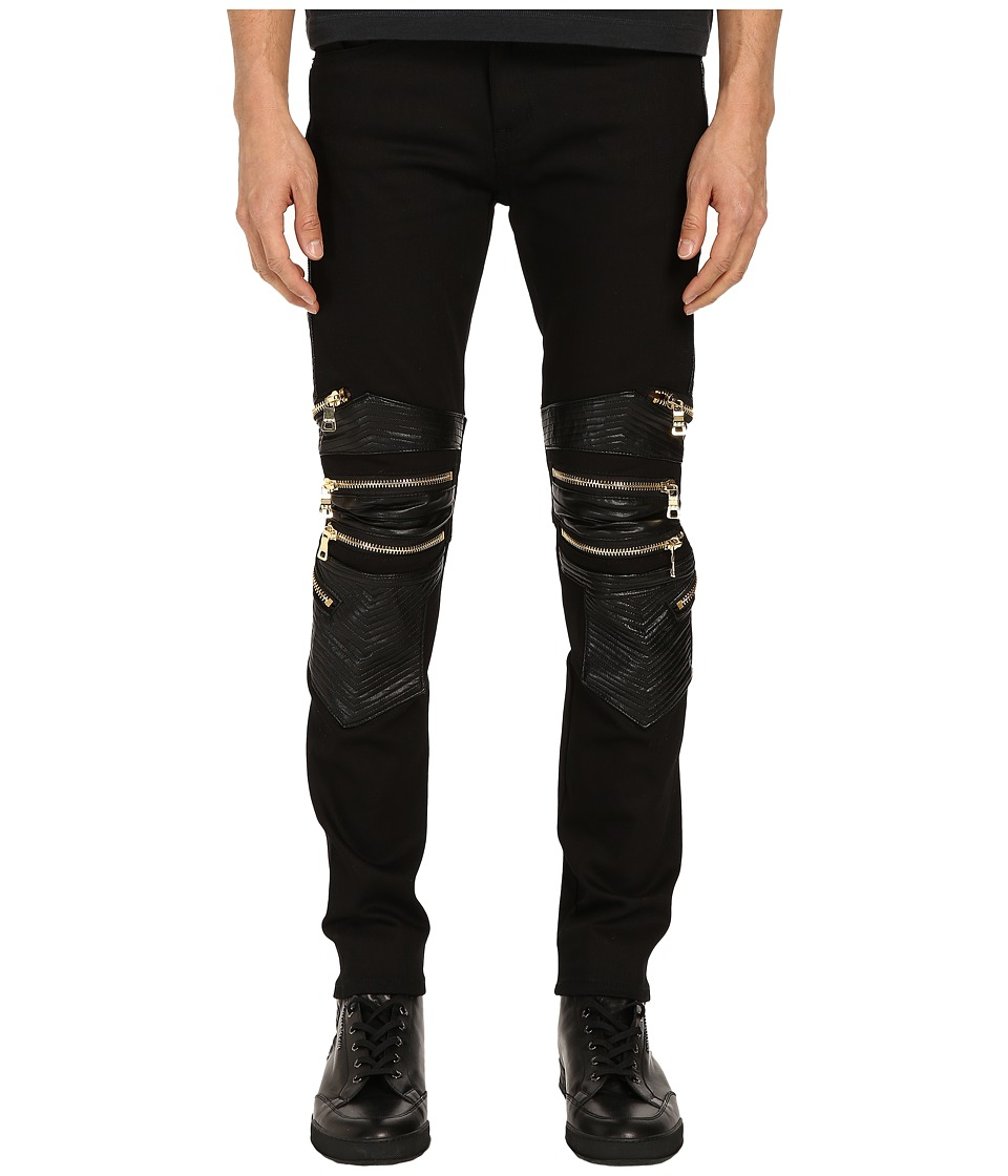 Gods Masterful Children After Dark Biker Jeans Black/Black/Gold Mens Jeans