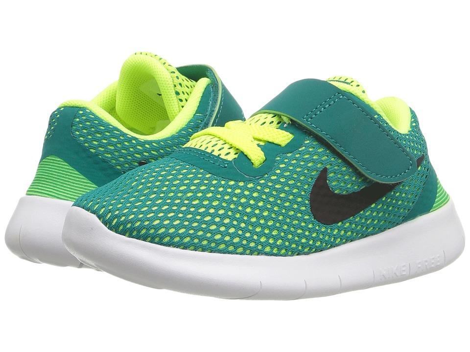 Nike Kids - Free RN (Infant/Toddler) (Rio Teal/Volt/White/Black) Boys Shoes