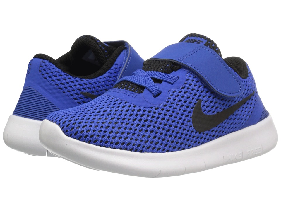 Nike Kids Free RN (Infant/Toddler) (Game Royal/White/Black) Boys Shoes