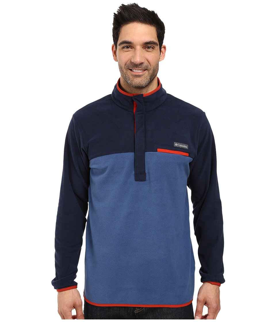 Columbia Mountain Side Fleece Jacket (Night Tide/Collegiate Navy/Rust Red) Men