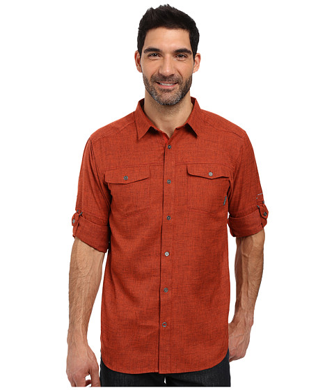 Columbia Pilsner Lodge Long Sleeve Shirt - Rust Red Heather