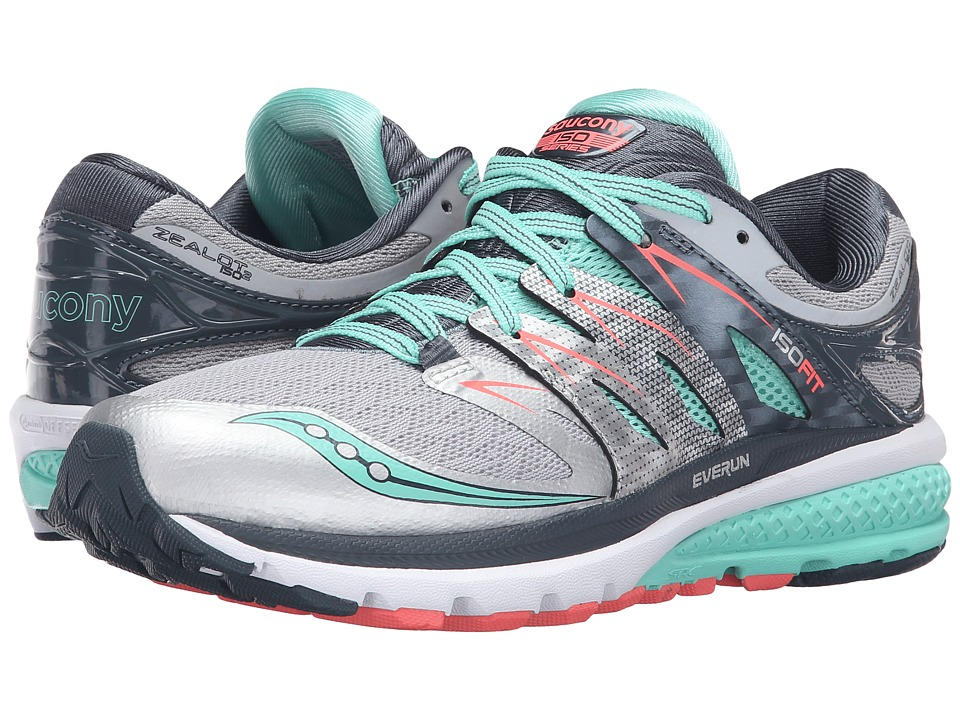 Saucony Zealot ISO 2 (Silver/Mint/Coral) Women