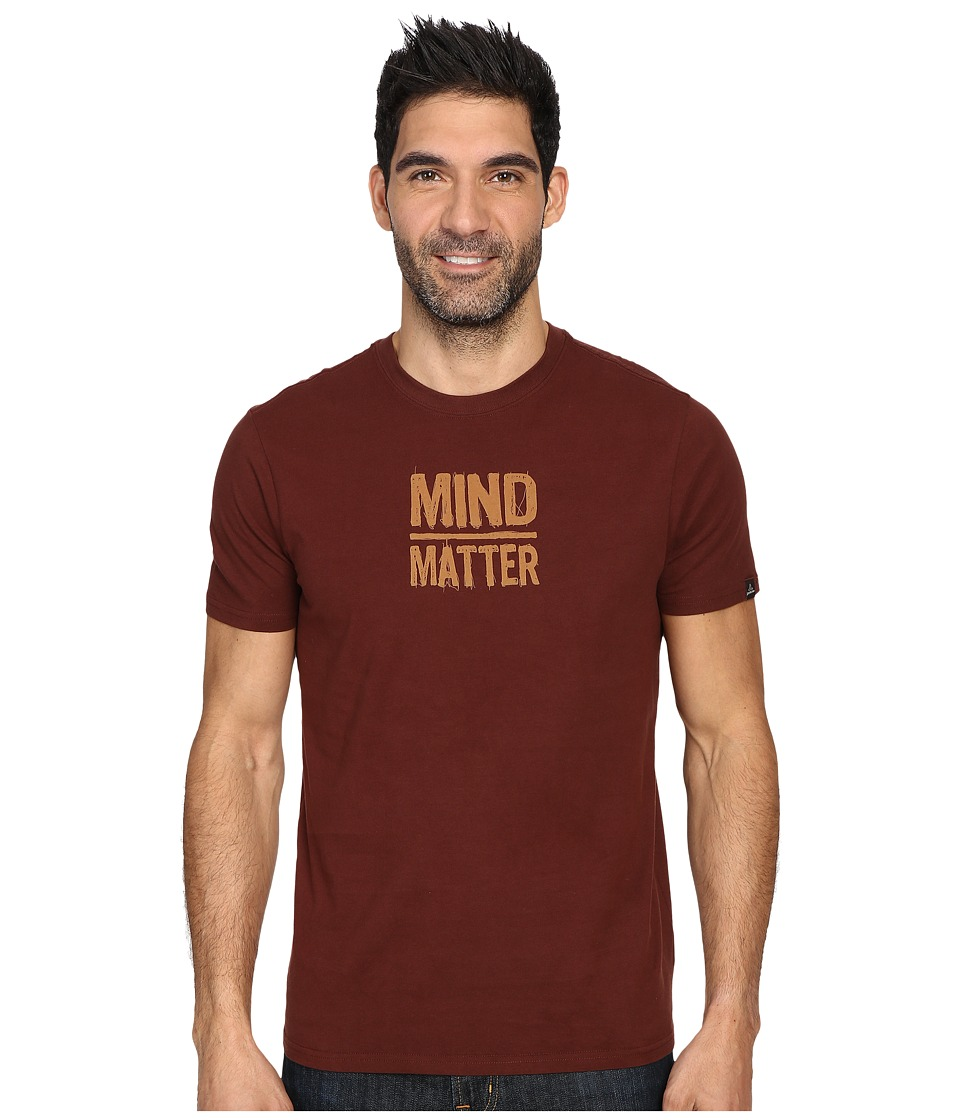 Prana Mind/Matter T-Shirt (Dark Umber) Men