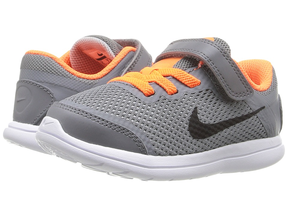 Nike Kids Flex 2016 RN (Infant/Toddler) (Cool Grey/Total Orange/Wolf Grey/Black) Boys Shoes