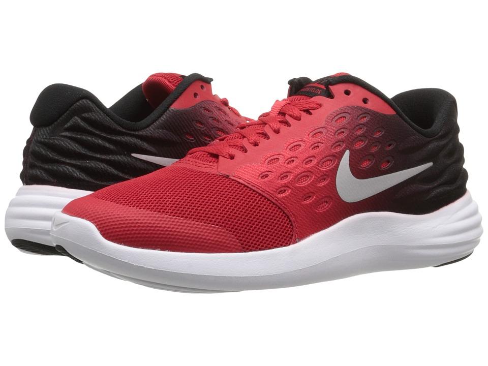 Nike Kids - Lunastelos (Big Kid) (University Red/Black/White/Metallic Silver) Boys Shoes