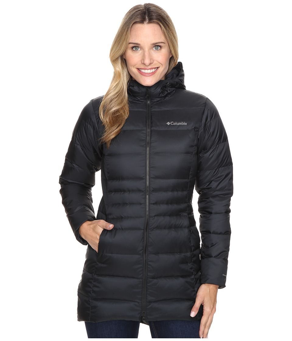 Columbia Hellfire Mid Down Hooded Jacket (Black) Women's ...