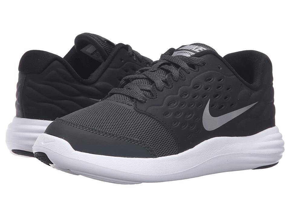 Nike Kids Lunastelos (Little Kid) (Anthracite/Black/Metallic Silver/Metallic Silver) Boys Shoes