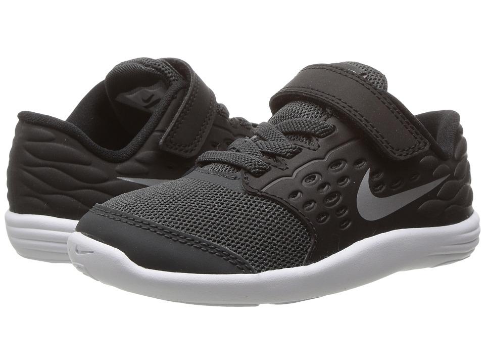 Nike Kids Lunastelos (Infant/Toddler) (Anthracite/Black/Metallic Silver/Metallic Silver) Boys Shoes