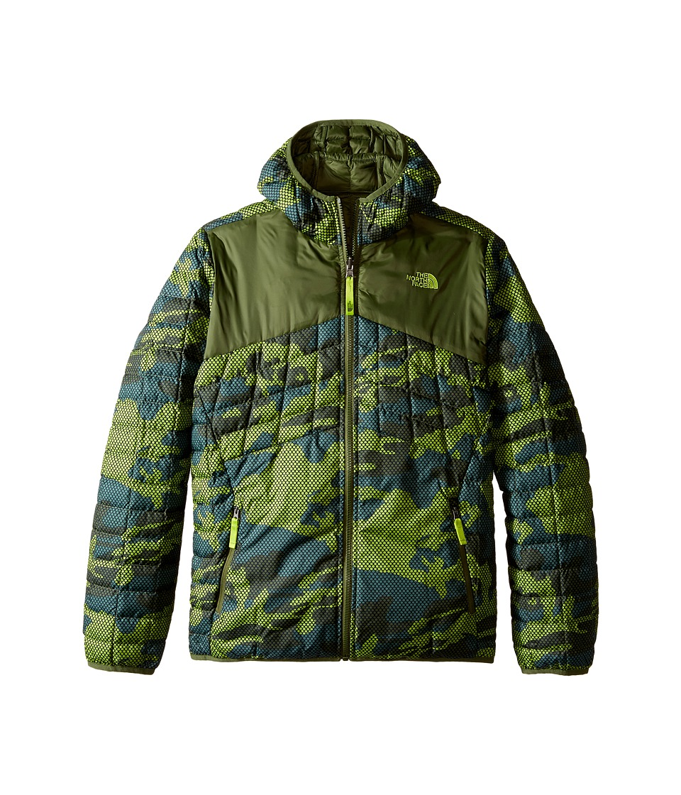 The North Face Kids - Reversible Thermoball Hoodie (Little Kids/Big Kids) (Terrarium Green Mesh Camo) Boy