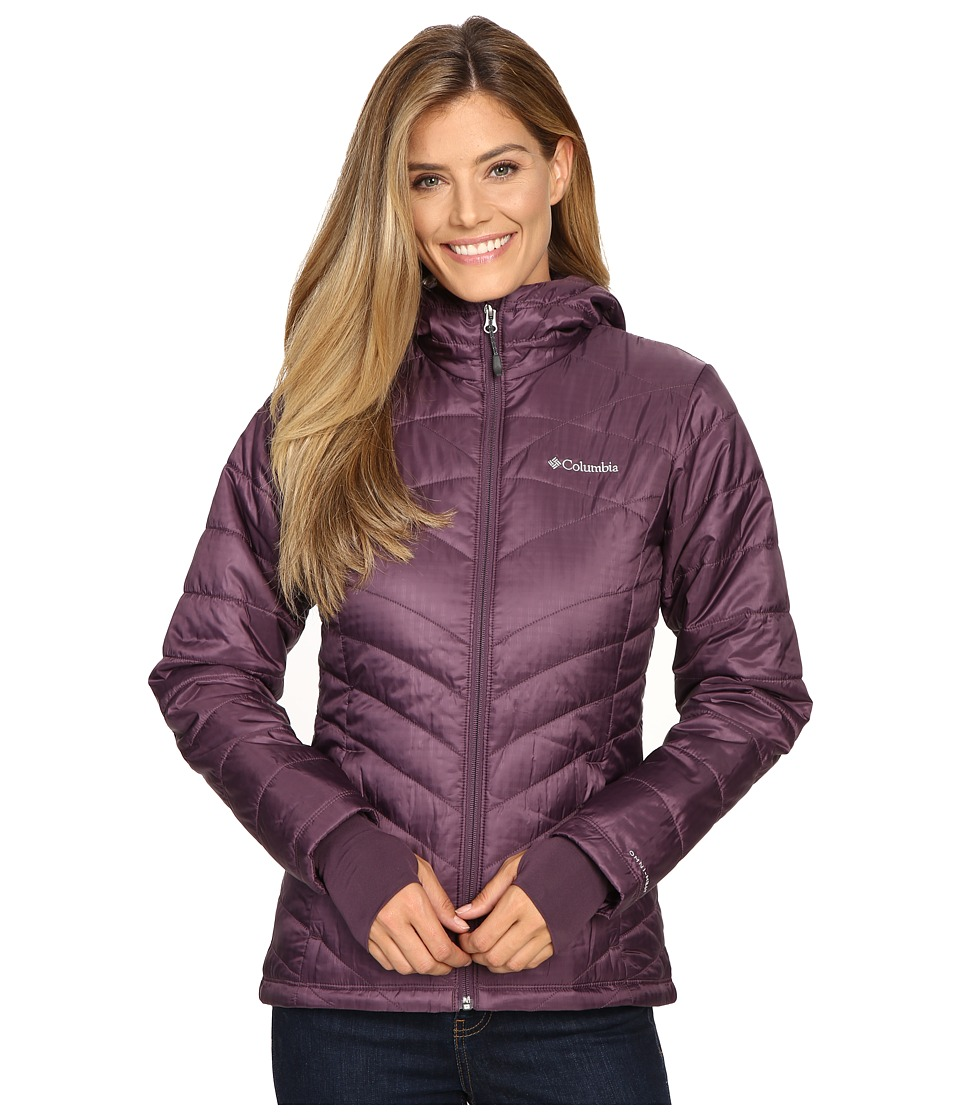 Columbia Mighty Litetm Hooded Plush Jacket (Dusty Purple) Women