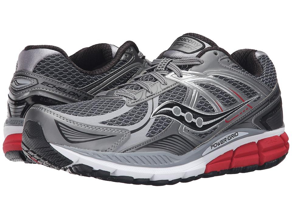 Saucony - Echelon 5 (Grey/Red/Black) Mens Running Shoes