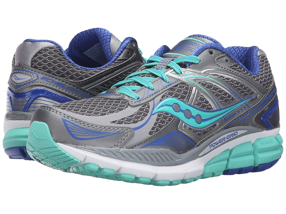 Saucony Echelon 5 (Grey/Mint/Blue) Women