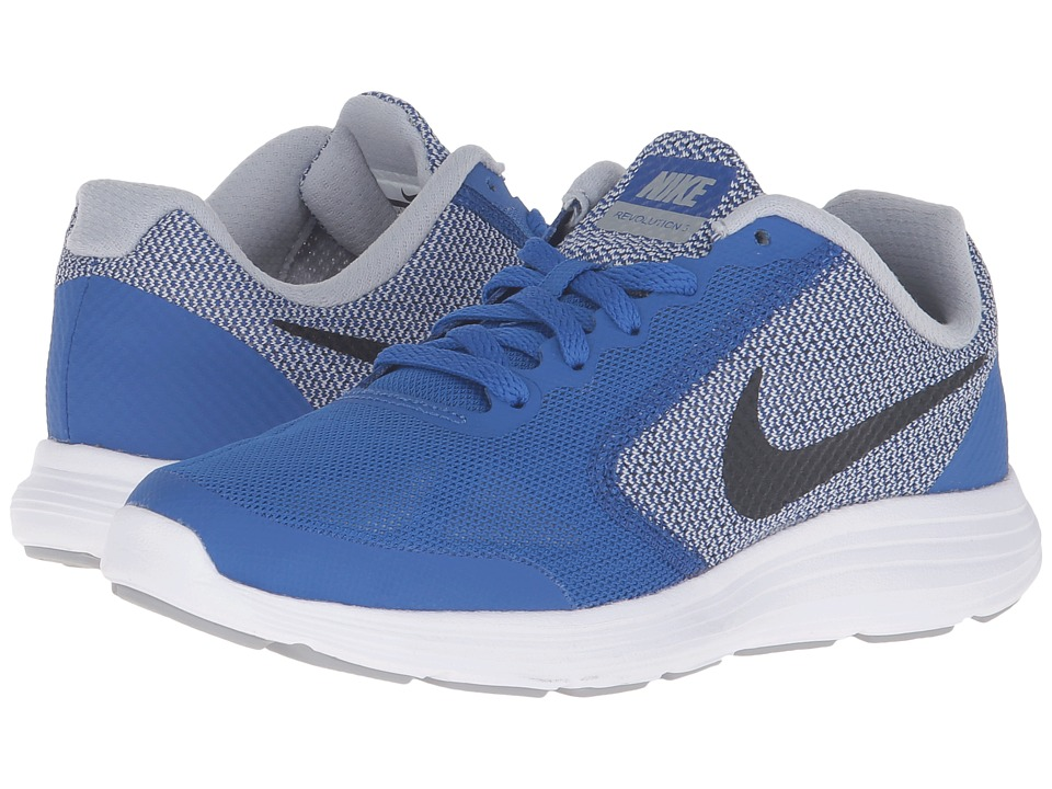 Nike Kids Revolution 3 (Big Kid) (Game Royal/Wolf Grey/White/Black) Boys Shoes