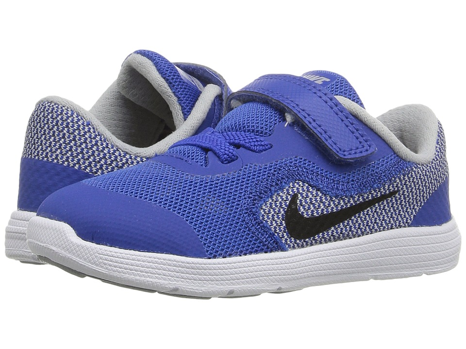 Nike Kids Revolution 3 (Infant/Toddler) (Game Royal/Wolf Grey/White/Black) Boys Shoes