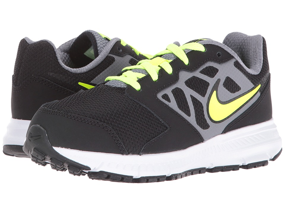 Nike Kids Downshifter 6 (Little Kid/Big Kid) (Black/Cool Grey/Rio Teal/Volt) Boys Shoes