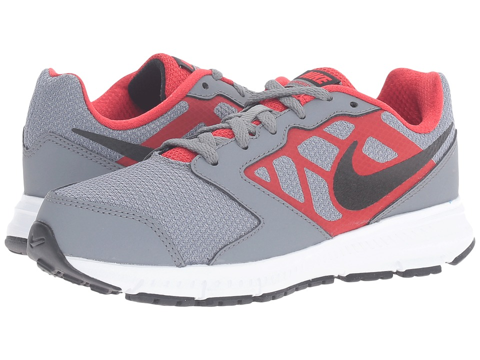 Nike Kids Downshifter 6 (Little Kid/Big Kid) (Cool Grey/University Red/White/Black) Boys Shoes