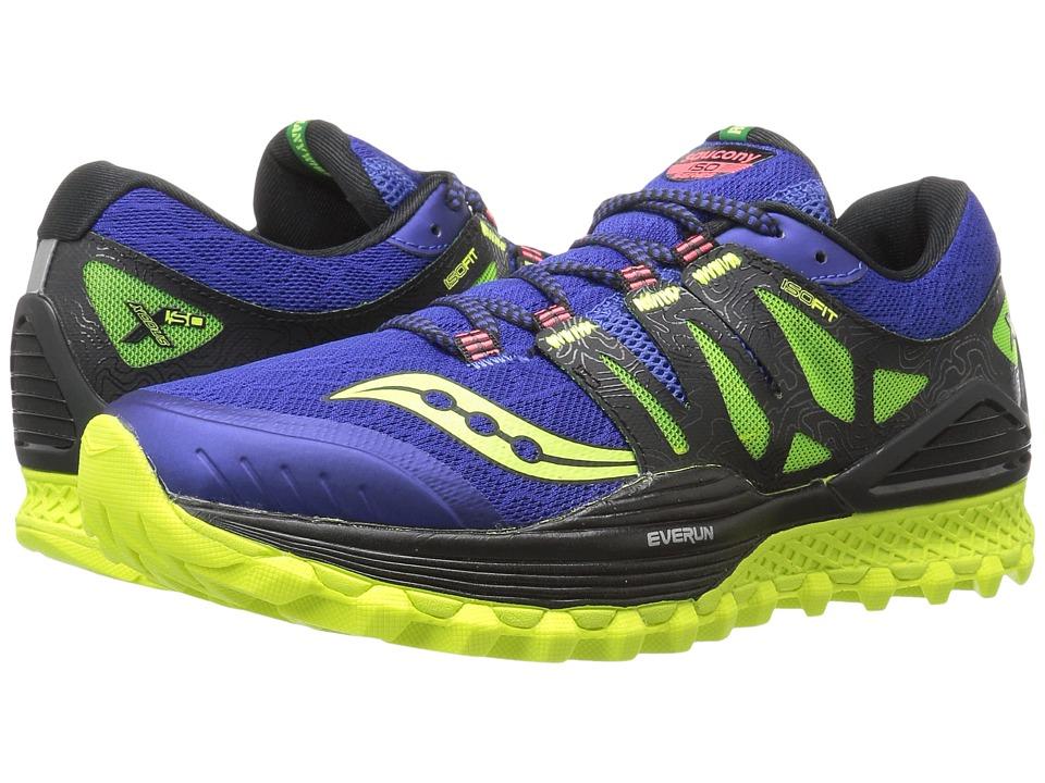 Saucony - Xodus ISO (Blue/Black/Citron) Mens Running Shoes