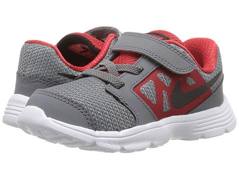 Nike Kids Downshifter 6 (Infant/Toddler) - Cool Grey/University Red/White/Black