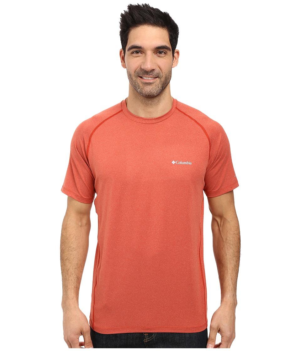 Columbia - Tuk Mountain Short Sleeve Shirt (Rust Red Heather) Men
