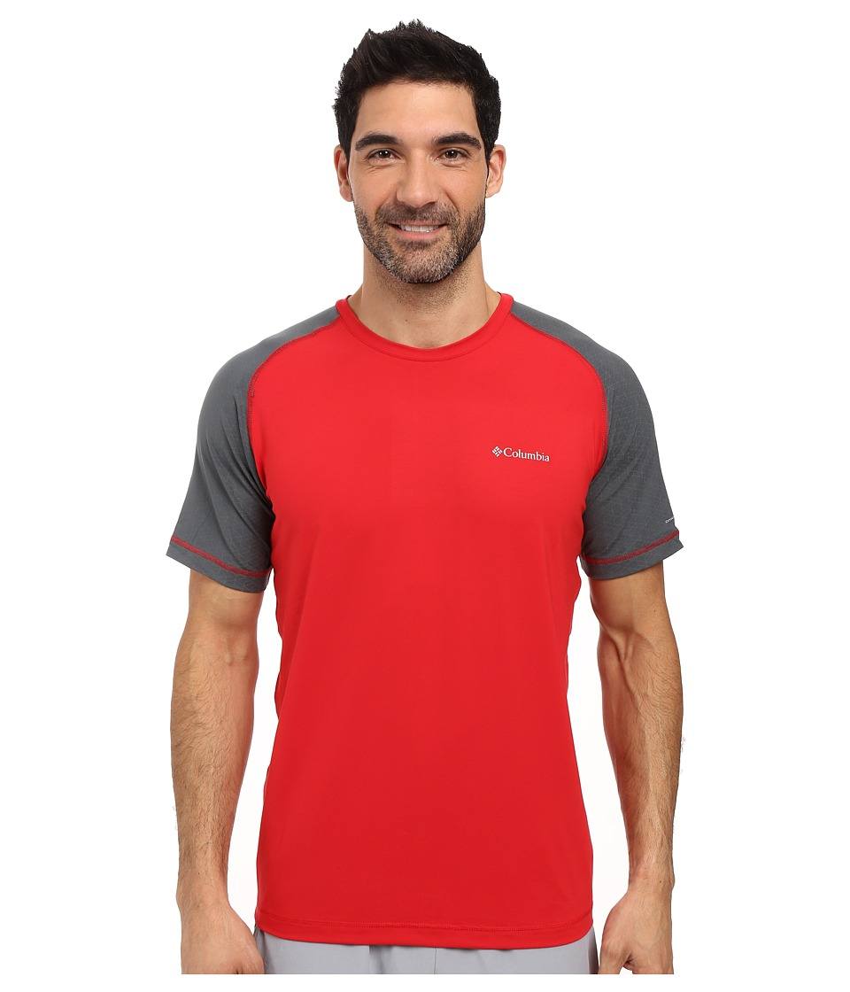 Columbia Trail Flash Short Sleeve Shirt (Mountain Red/Graphite) Men
