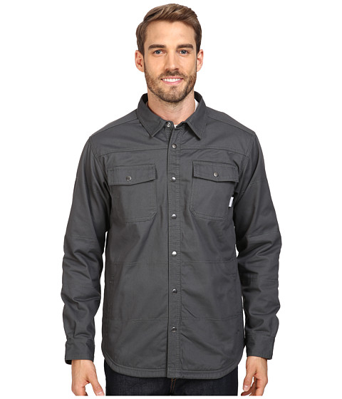 Columbia Log Vista Shirt Jacket - Grill/Red Buffalo Plaid