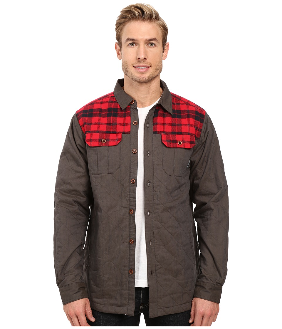 Columbia Kline Falls Shirt Jacket (Buffalo/Mountain Red Plaid) Men