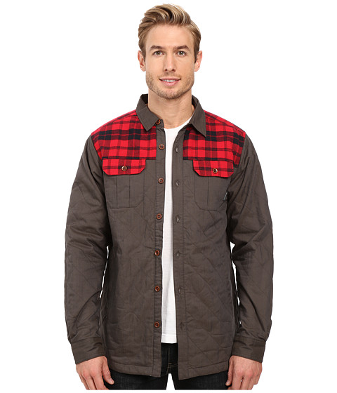 Columbia Kline Falls Shirt Jacket - Buffalo/Mountain Red Plaid
