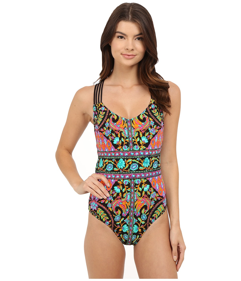 Nanette Lepore Kings Road Goddess One Piece Multi Womens Swimsuits One Piece