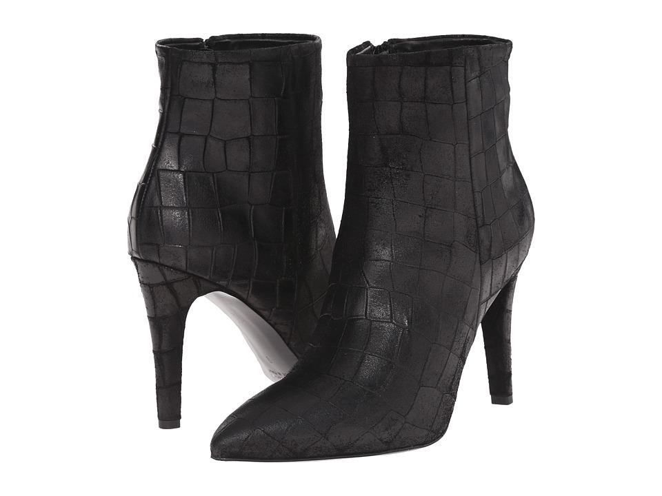Massimo Matteo - Croc Heel Bootie (Black) Women