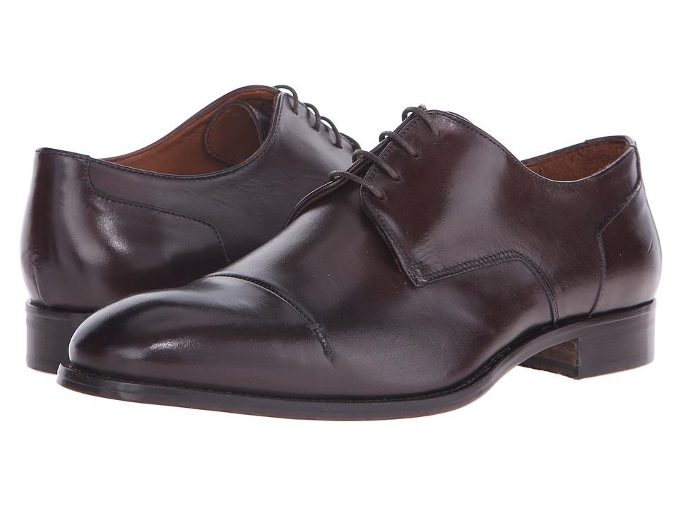 Massimo Matteo 4 Eye Cap Toe 16 Dark Mens Lace Up Cap Toe Shoes