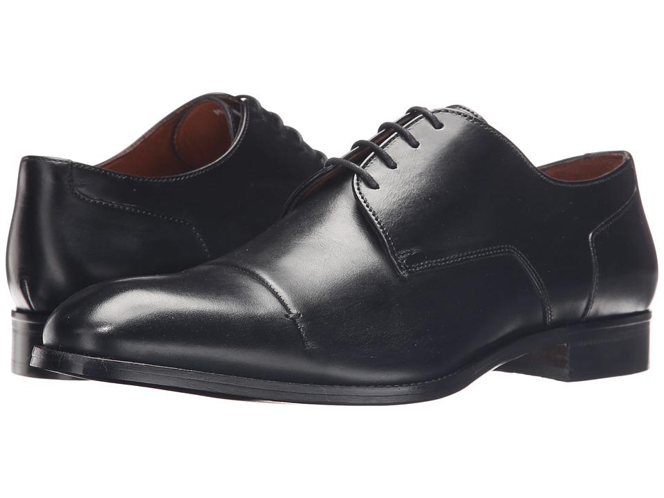 Massimo Matteo 4 Eye Cap Toe 16 Black Mens Lace Up Cap Toe Shoes