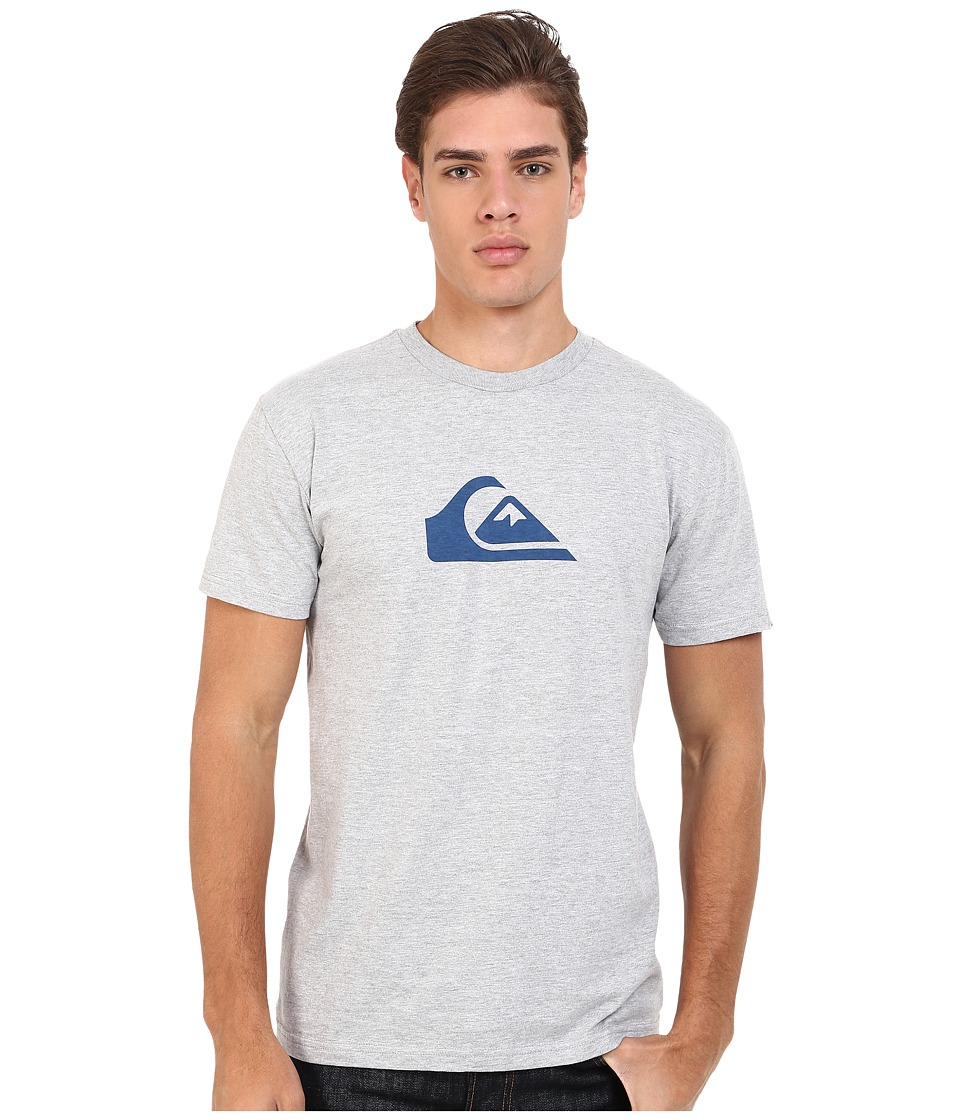 Quiksilver Everyday Mountain Wave Tee Athletic Heather Mens Short Sleeve Pullover