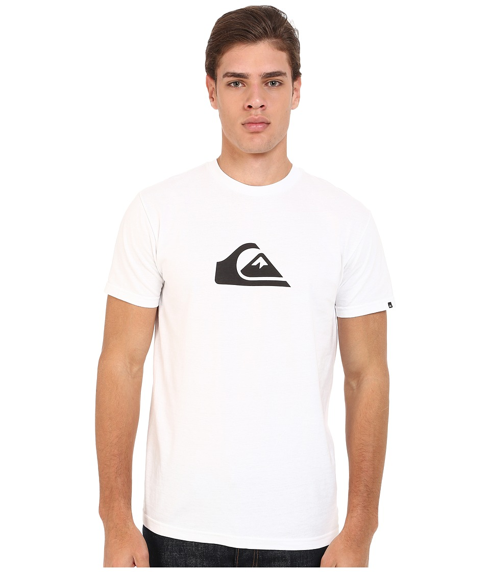 Quiksilver Everyday Mountain Wave Tee White Mens Short Sleeve Pullover