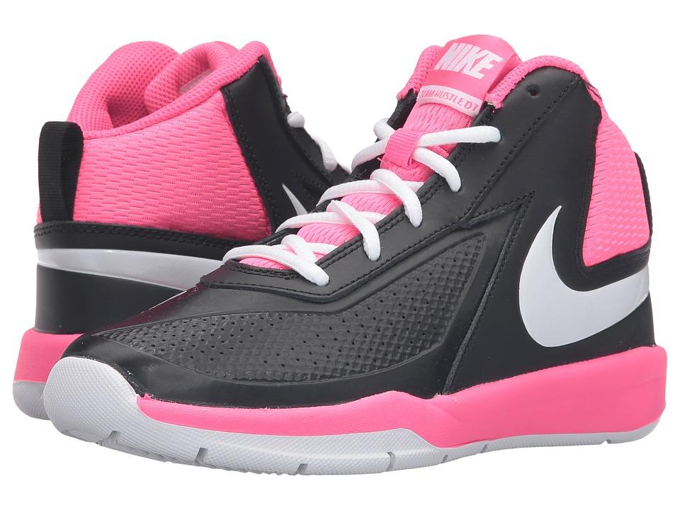 Nike Kids Team Hustle D 7 (Big Kid) (Black/Hyper Pink/White) Girls Shoes