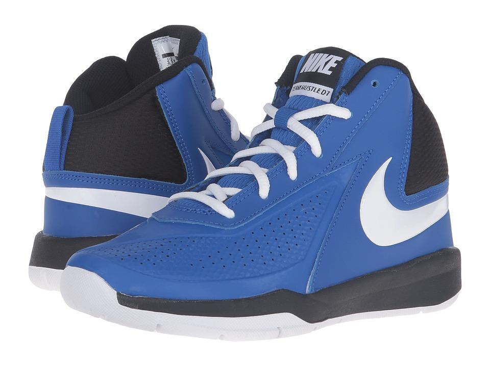 Nike Kids - Team Hustle D 7 (Big Kid) (Game Royal/Black/White) Boys Shoes