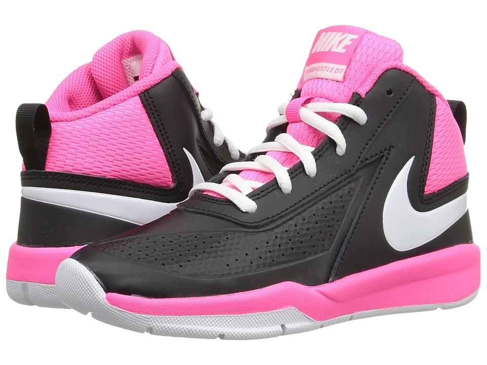 Nike Kids - Team Hustle D 7 (Little Kid) (Black/Hyper Pink/White) Girls Shoes