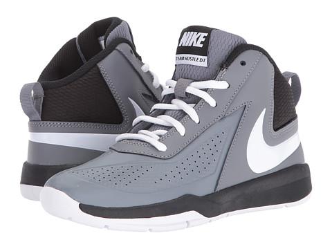 Nike Kids Team Hustle D 7 (Little Kid) - Cool Grey/Black/White